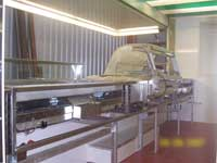 Catering Equipment in one of our bespoke catering trailers
